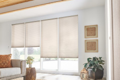"""3/4"""" Single Cell Cellular Shades with Motorized Lift: Couture, Heron Plume 0131"""
