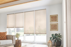 """3/4"""" Single Cell Cellular Shades with Motorized Lift: Simply Sheer, Mocha 2154"""
