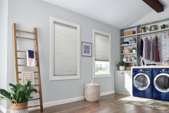 "3/8"" Single Cell Cellular Shades with Cordless Lift: Endeavor, Elegant Dove 5816"
