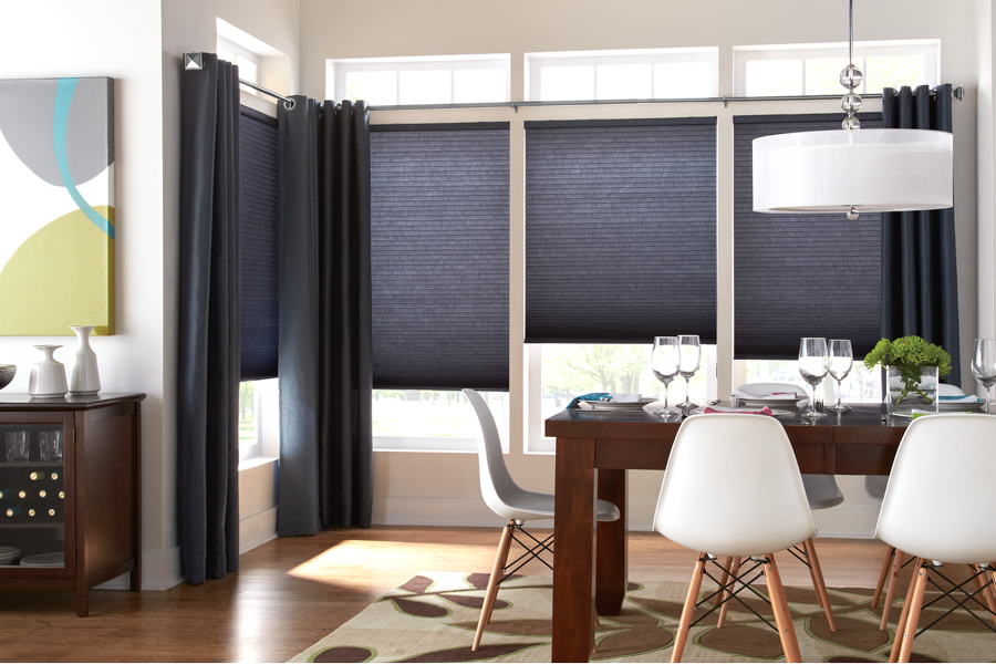 cellular shades dinner room