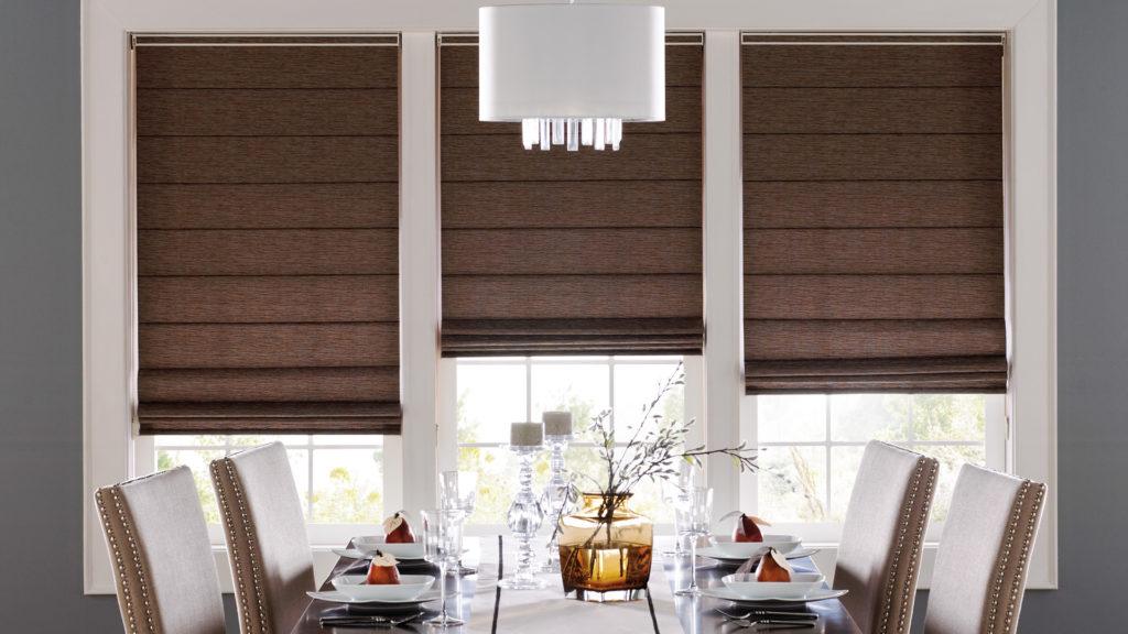 roman shade dinner room